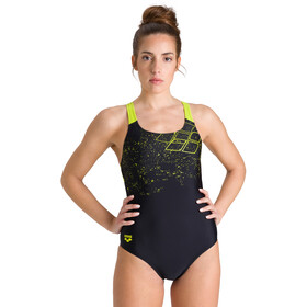 arena Lightning Swim Pro Back One Piece Swimsuit Women black/soft green